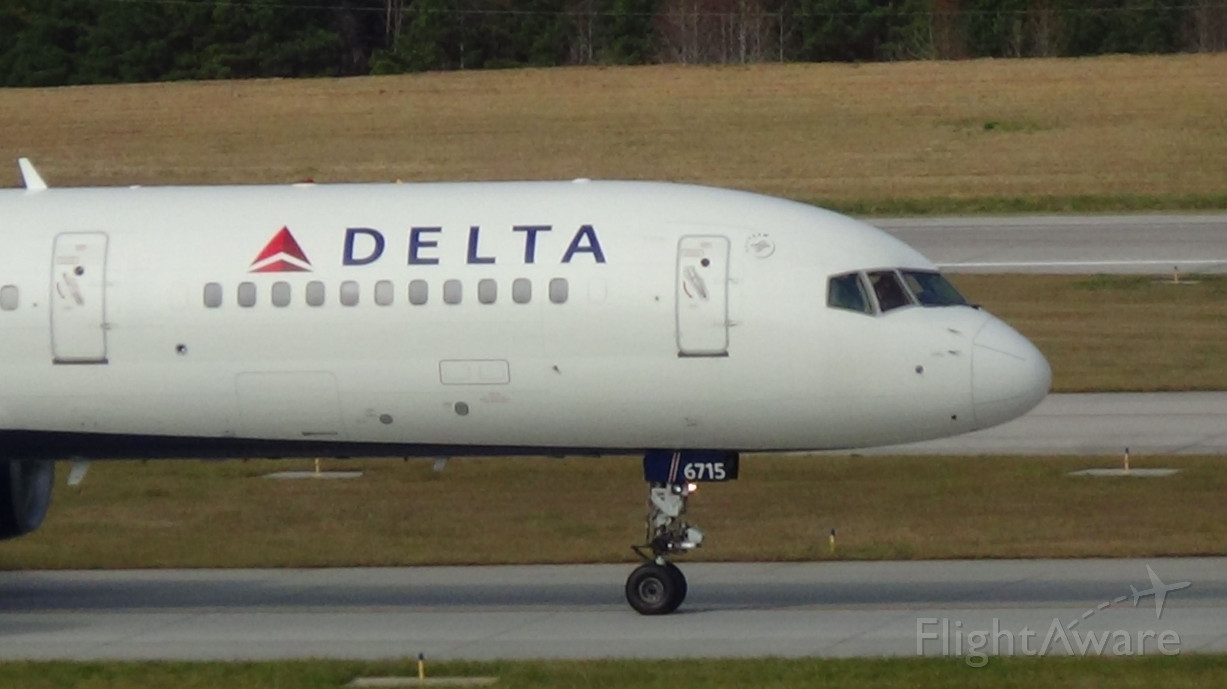 Boeing 757-200 (N6715C) - Delta 1294 departing to Atlanta at 11:14 P.M.   Taken November 29, 2015.   br /Aircraft is was soon thereafter retired.