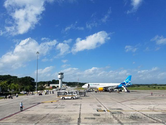 Airbus A320 (C-GCKU) - Primer vuelo de Air Transat con un Avión A320 a República Dominicana.