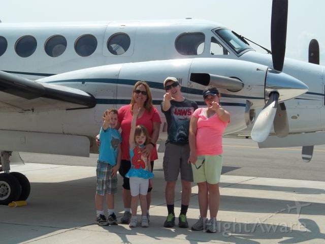 — — - Beautiful day at KMGN. Took the kids to watch aircraft arrive and depart.This KingAir was due to lv for Lynchburg,VA. so we stayed to watch!