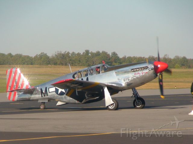 North American P-51 Mustang — - Collings Foundation P-51 at KFCI, October 2010