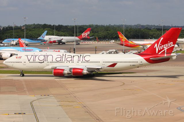 Boeing 747-400 (G-VBIG) - Level 13 Terminal 1 Car Park, Manchester UK, Wednesday 07/06/17