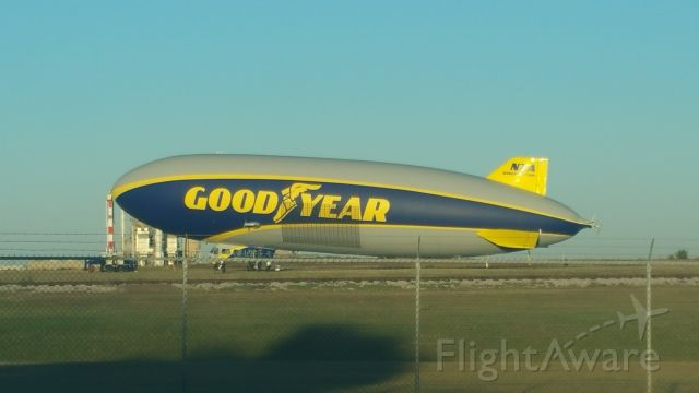 Cessna Citation V (N2A) - Wingfoot Two at the Lawton, OK Goodyear Tire plant. En-route to Los Angeles CA on its Blimp Goes West tour. (Not really a blimp)