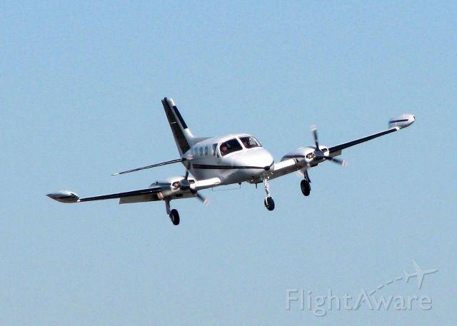 Cessna Chancellor (N1214G) - Landing on 14 at Downtown Shreveport.