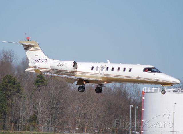 Learjet 45 (N645FD) - FAMILY DOLLAR STORES arriving 18C - 2/28/12