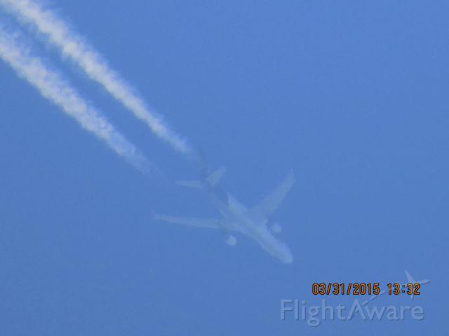 Boeing MD-11 (N618FE) - FedEx flight from MEM to SEA over Southeastern Kansas at 34,000 feet.