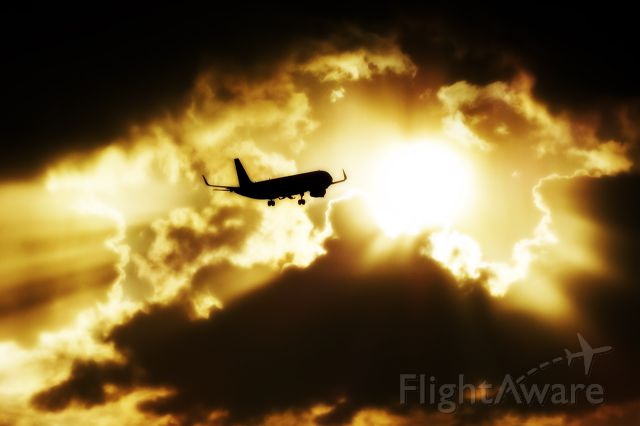 Airbus A321 (HA-LXD) - Flight to sunset