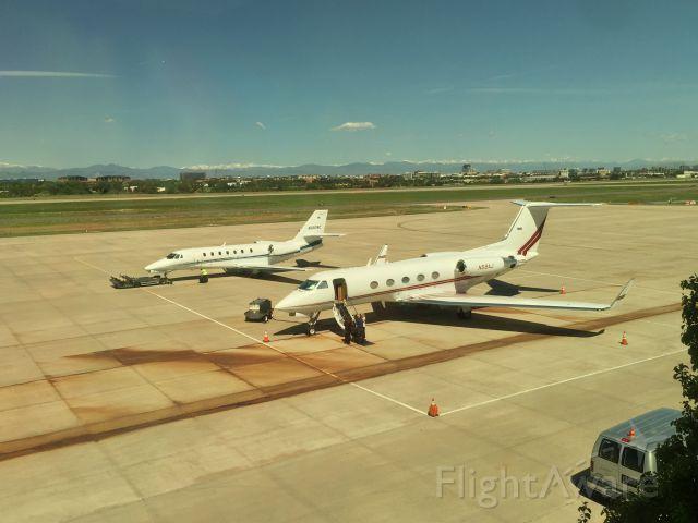 Gulfstream Aerospace Gulfstream 3 (N58AJ) - Doing a show-off at Centennial Airport