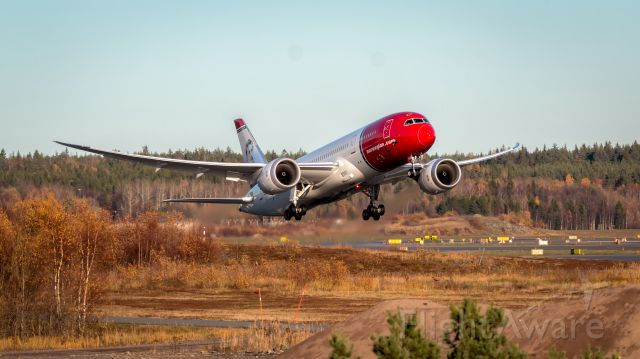 Boeing 787-8 (LN-LNG) - DY7067 takes off to Oakland from Stockholm Arlanda Airport.