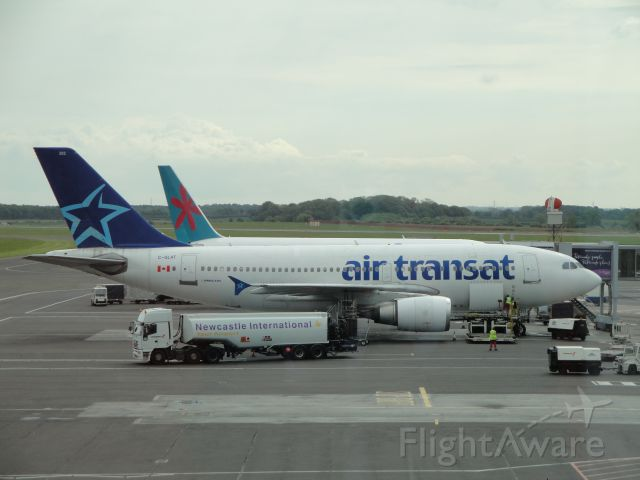 Airbus A310 (C-GLAT) - A regular weekly operation at Newcastle between May and September is Air Transats Toronto-Exeter-Newcastle-Toronto service.