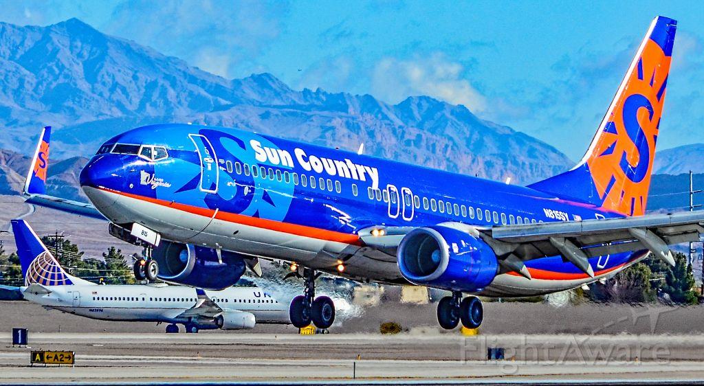 "Boeing 737-800 (N815SY) - N815SY Sun Country Airlines Boeing 737-8BK (cn 30623/1136) ""Lake Virginia"" - Las Vegas - McCarran International (LAS / KLAS)<br />USA - Nevada,  January 18, 2019<br />Photo: TDelCoro"