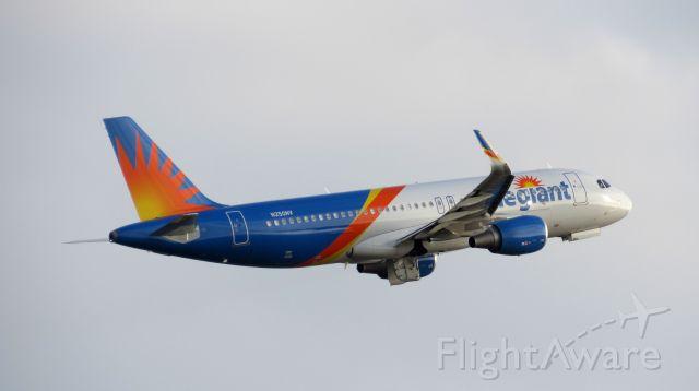 Airbus A320 (N250NV) - Allegiant Air Airbus A320-214(WL) registered N250NV departing RWY 22 at KPGD.