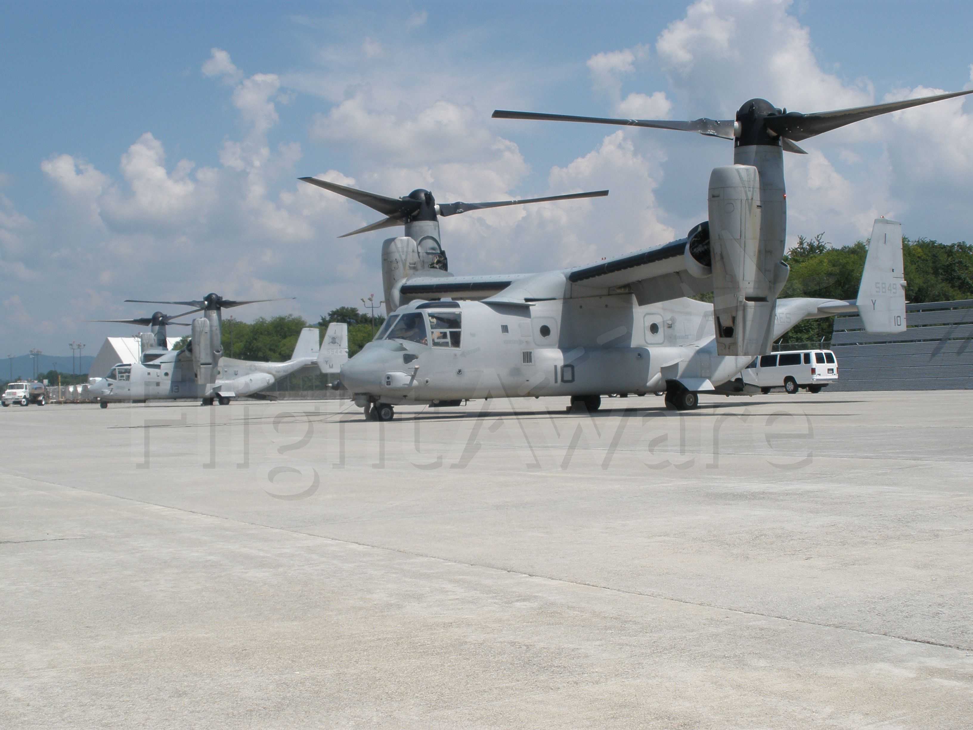 Bell V-22 Osprey — - Getting ready for a very long startup process.