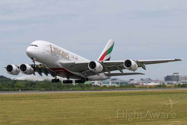 Airbus A380-800 (A6-EES) - EK18, the second of 3 A380 departures to Dubai.