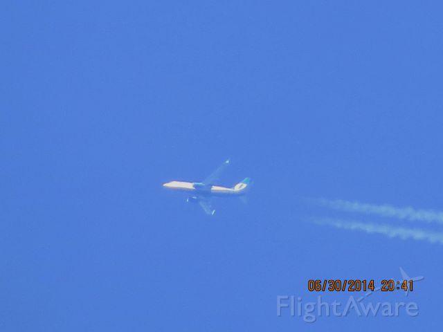 Boeing 737-700 (N261AT) - AirTran flight 490 from Denver to Atlanta over Baxter Springs KS at 41,000 feet.
