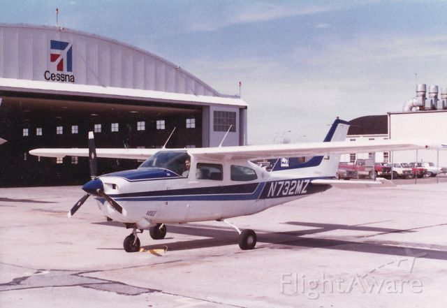 Cessna Centurion (N732MZ) - Photo taken in early 1980s.