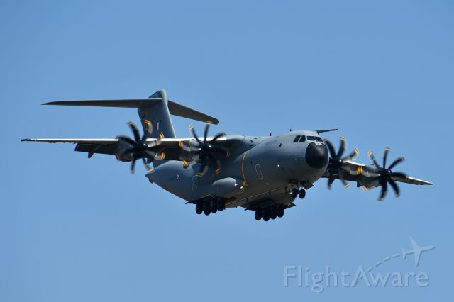 AIRBUS A-400M Atlas (F-RBAF) - French Air Force A400M arriving at YYC on July 28.
