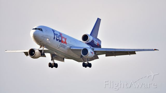 McDonnell Douglas DC-10 (N560FE) - FedEx Express McDonnell Douglas DC-10 (N560FE) arrives at KRDU Rwy 23R on 6/13/2018 at 7:00 pm.