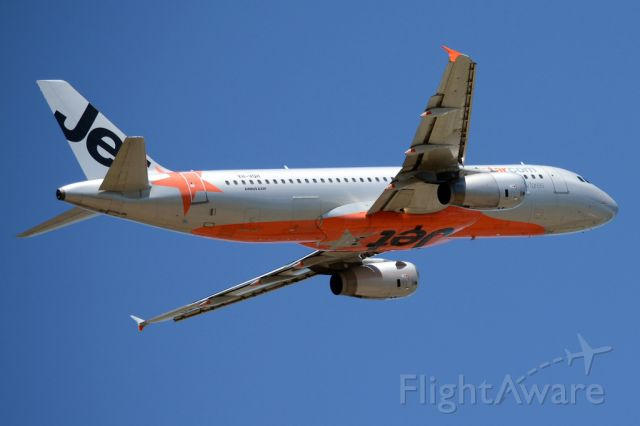 Airbus A320 (VH-VQH) - Getting airborne off runway 23.  Wednesday 29th October 2014.