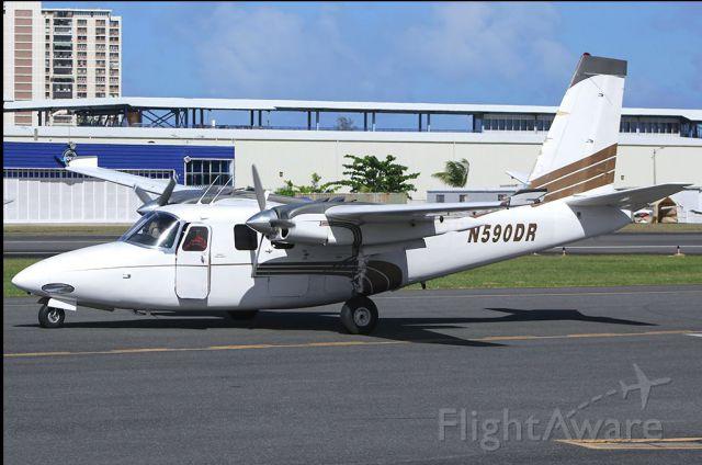 Aero Commander 500 (N590DR) - On the ramp @ TJIG, not TJSJ