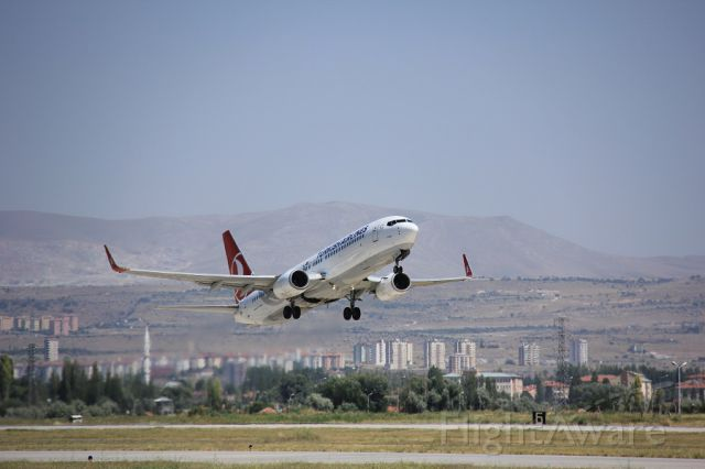 — — - TURKISH AIRLINES CLIMB TO TO SKY FROM KAYSERI TO ISTANBUL.