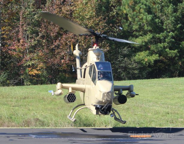 N998HF — - A Bell AH-1F Cobra, operated by the Army Aviation Heritage Foundation, arriving at Folsom Field, Cullman Regional Airport, AL, during the Elks Lodge 1609 sponsored Cullman Veterans Day Celebration - November 4, 2017.