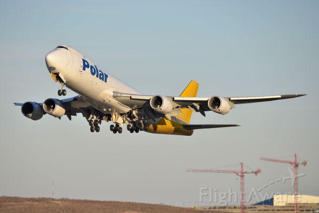 BOEING 747-8 (N852GT) - Headed to NRT on 12-07-19 Runway 27 departure.