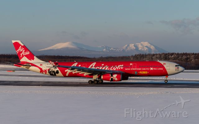 """Airbus A330-300 (9M-XXP) - AirAsia X  Malaysia [D7/XAX] / Airbus A330-343Xbr /""""Manny Pacquiao Livery""""br /Jan.07.2018 New Chitose Airport [CTS/RJCC] JAPAN"""