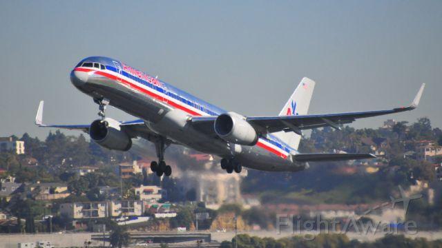 Boeing 757-200 — - Departing Runway 27 KSAN