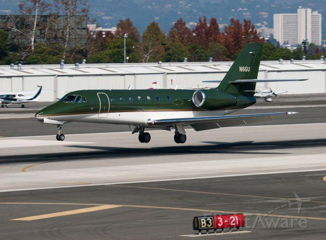 Cessna Citation Sovereign (N6GU) - N6GU arriving on RWY 21