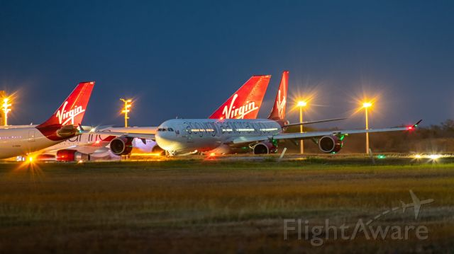 """Airbus A340-600 (G-VNAP) - """"Sleeping Beauty Rejuvenated"""" seen here after pushback from the gate in Barbados"""