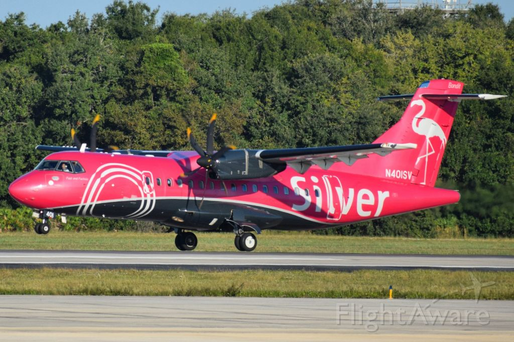 Aerospatiale ATR-42-600 (N401SV) - Silver Airways ATR-42 (operating as SIL59) departing 19R at the Tampa International Airport for Fort Lauderdale