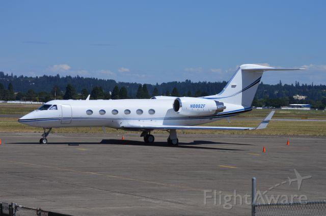 Gulfstream Aerospace Gulfstream IV (N888ZF) - Parked at the Salem Air Center FBO ramp.
