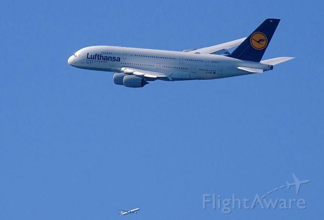 Airbus A380-800 (D-AIMC) - Eva 773 on Approach above Malibu, California