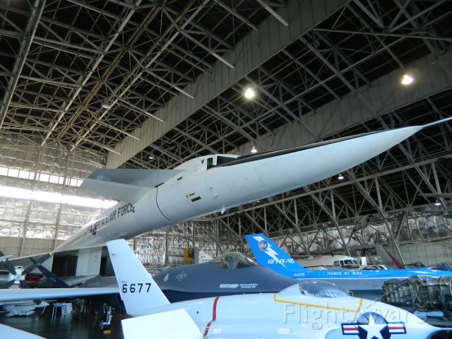 — — - The North American XB-70 at the National Museum of the United States Air Force in Dayton Ohio.
