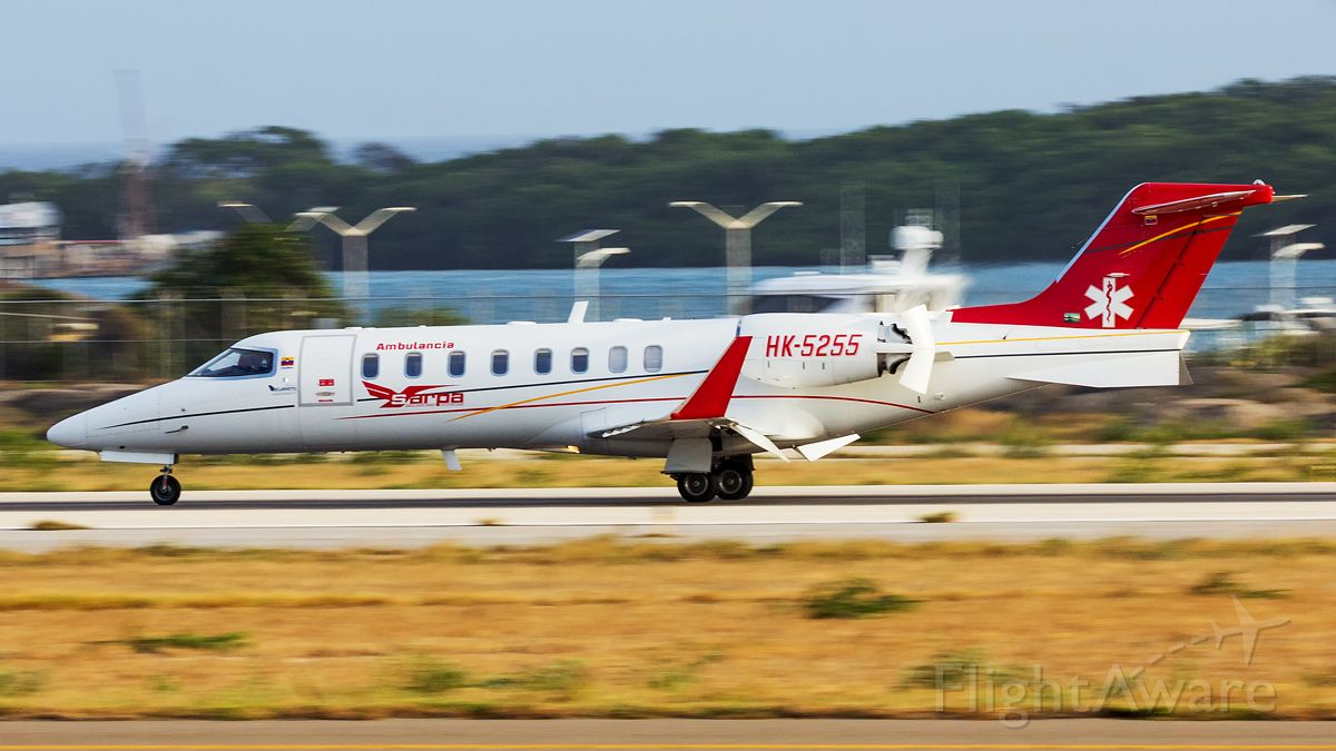 Learjet 45 (HK5255) - This Carrier is a Air ambulance from Colombia. Arrival this afternoon from other Dutch island Bonaire.