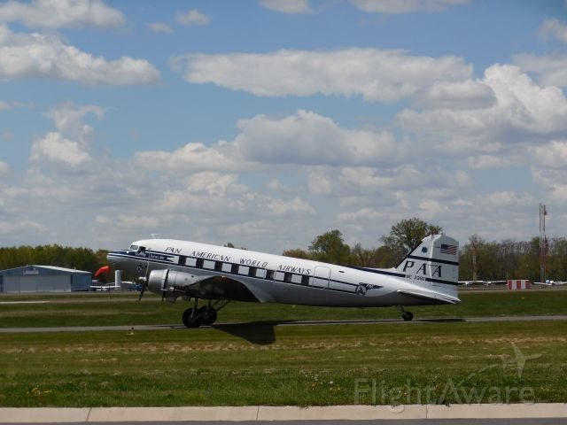 Douglas DC-3 (NC33611) - A Former Pan Am Dougals DC-3 Taxiing To The Runway At The 2015 Manassas Airshow