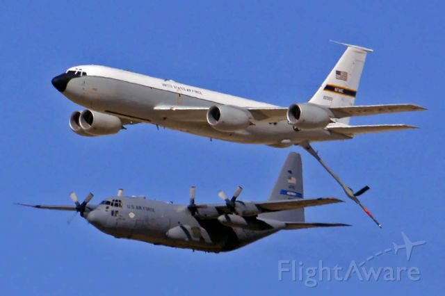 61-0320 — - Boeing KC-135R Stratotabnker 61-0320 of the 412th Test Wing and Lockheed and C-130H Hercules 89-9101 at the Edwards Air Force Base Open House on October 16, 2009.