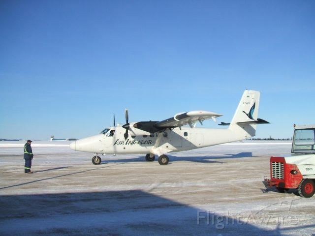 De Havilland Canada Twin Otter (C-GLAI) - Departing ramp at Goose Airport NL.. Feb 16/09.