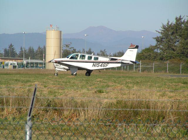 Beechcraft Bonanza (36) (N1546F) - Shot recorded 2004-11-17
