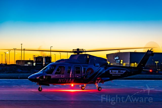 Sikorsky S-76 (N176AM) - AeroMed1 doing Runups on the AeroMed Ramp at KGRR