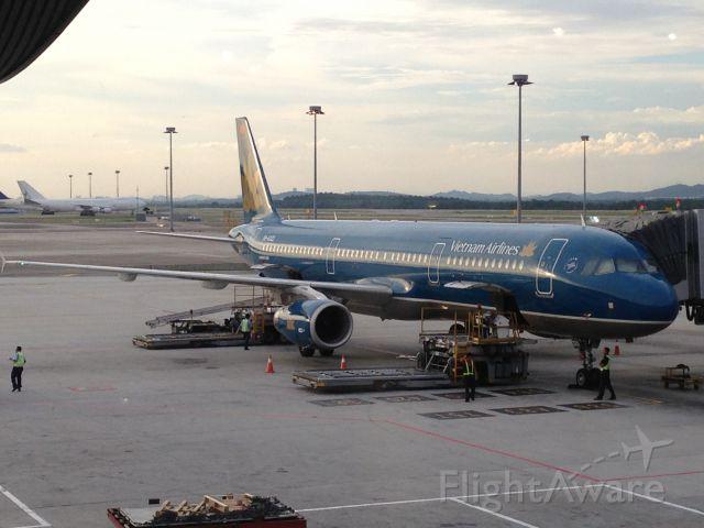 — — - Vietnam Airlines at KLIA, Sepang, Malaysia.