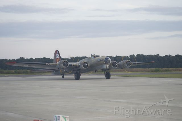 Boeing B-17 Flying Fortress (SAI93012) - Collins Foundation B-17 at Charleston Executive Airport on Saturday, 31 Oct 15.