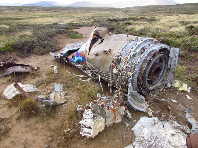 DASSAULT-BREGUET Mirage 2000 — - Crash site of a Mirage 2000 near Port Howard, West Falkland Islands. It was shot down by an AIM-9 Sidewinder Missile shot from a RAF Sea Harrier