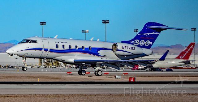 Bombardier Challenger 300 (N777MS) - N777MS Bombardier BD-100-1A10 Challenger 300 s/n 20168 - Las Vegas - McCarran International (LAS / KLAS)br /USA - Nevada,  January 18, 2019br /Photo: TDelCoro
