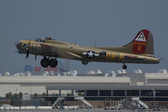 Boeing B-17 Flying Fortress — - Boeing B-17 departs Long Beach