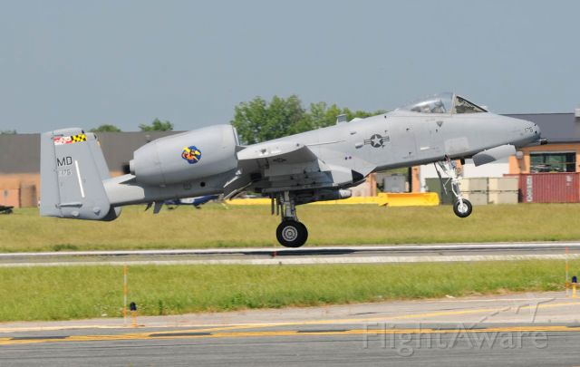79-0175 — - Maryland Air National Guard A-10C at Martin State Airport Middle River MD