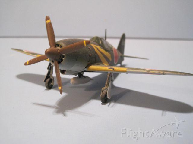 """— — - 1/72 scale model, Mitsubishi J2M """"Jack"""" or Thunderbolt."""
