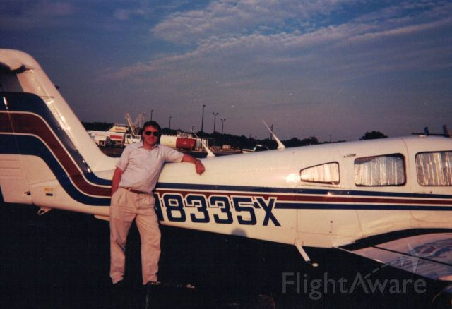 Piper Apache (N8335X) - Mike Young back in the early '90's in FL.