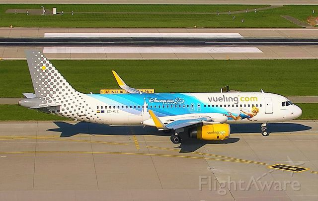 Airbus A320 (EC-MLE) - Vueling's Disney livery taxiing for departure.