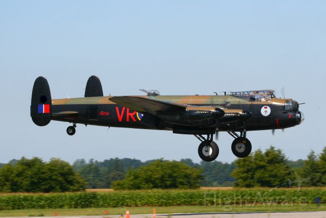 Avro 683 Lancaster (C-GVRA) - Yea, I crudely took out the gasoline company logo on the tail.